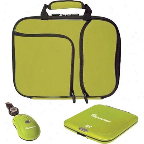 """Pc Treasures 10"""" Netbook Necessities Kit - Green"""