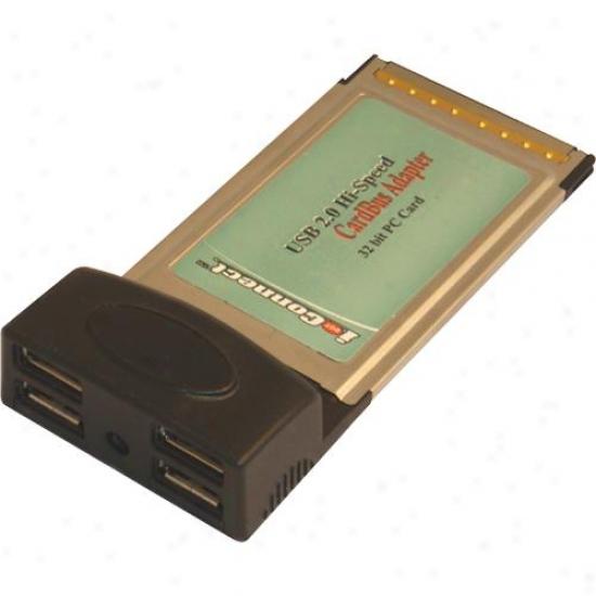 Ppa Int'l 1141 4 Port Usb 2.0 Hi-speed Cardbus