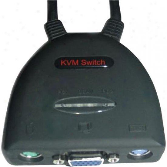 Ppa Int'l 7037 Kvm Switch 2 Port All-in-one Ps/2 Cable Switch