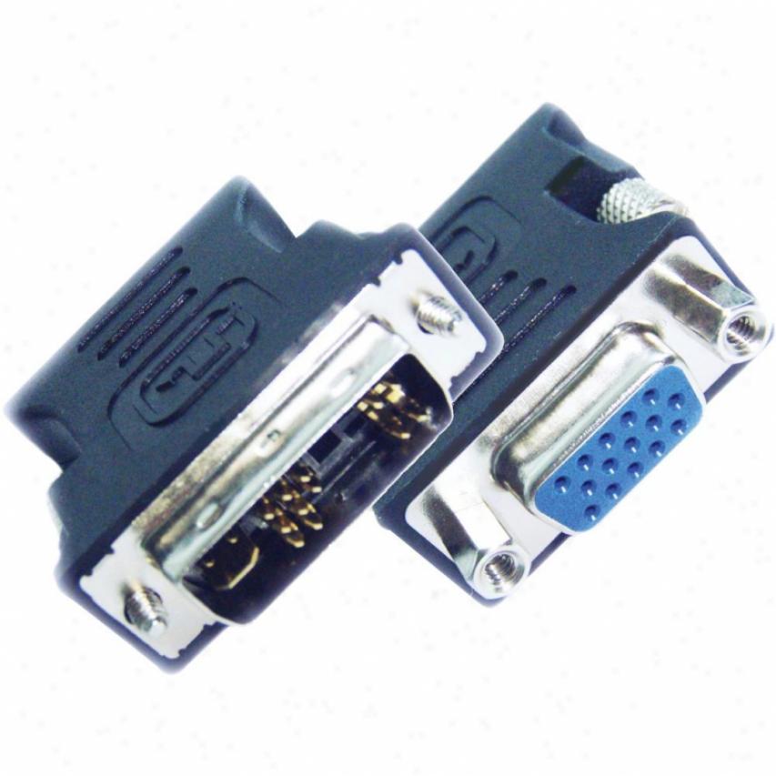 Ppa It'l Dvi 17-pin Male To Hd15 Vga Female Connector