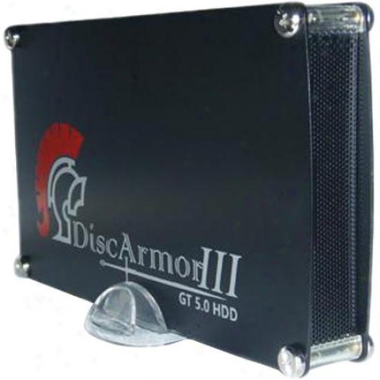 """Ppa Int'l Gt50da3s3 Discarmor Iii Aluminum 3.5"""" Sata Hard Drive Enclosure Usb 3."""