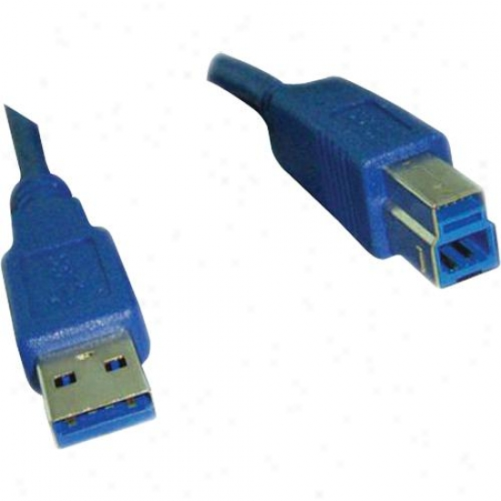 Ppa Int'l Usb 3.0 Superspeed Cable Am To Bm - Blue - 6 Feet