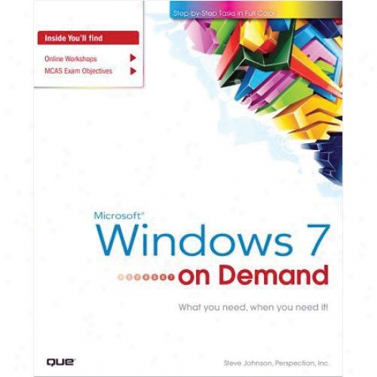 Que Publishing 0789742012 Microsoft Windows 7 On Demand