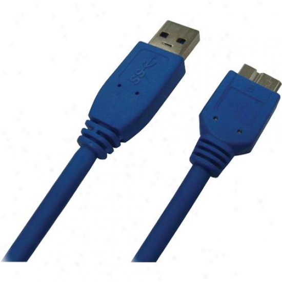 Qvs 10ft Usb 3.0 5gbps Type A Male To Micro-b Male Cable - Melancholy