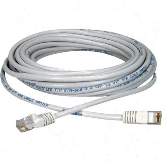 Qvs 350mhz 14 Foot Cat5e Stranded Patch Cord - White