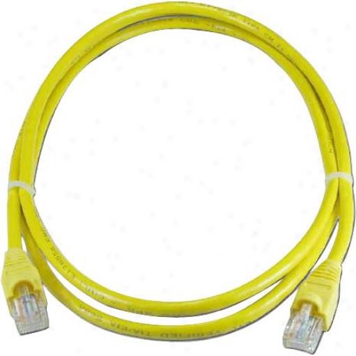 Qvs Cc711-05yw Cat5e Ethernet Cable - 5 Feet