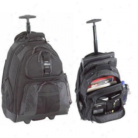 "Rolling Backpack 15.4"" Laptop - Black Tsb700"