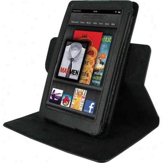 Roocase Dual-view Multi Angle Leather Case Cover For Kindle Fire
