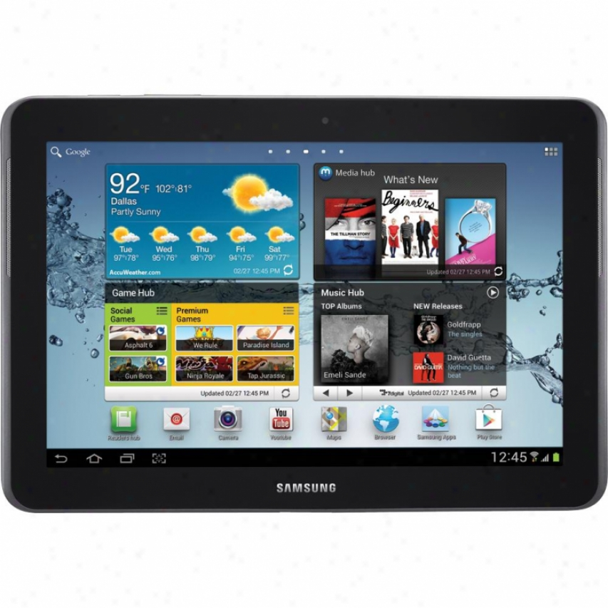 "Samsung Galaxy Tab 2 Wifi 16gb 10.1"" Touchscreen Android Tablet- Titanium Silver"