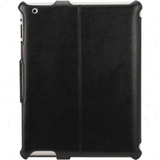 Scosche Leather Folio Case For Ipad 2 Ipd2flbk - Black