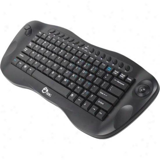 Siig Inc Wireless Mini Multimedia Travkball Keyboard - Jk-wr0412-s1