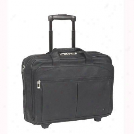 "Solo 15.6"" Leatjer Laptop Case - Black D529-4"