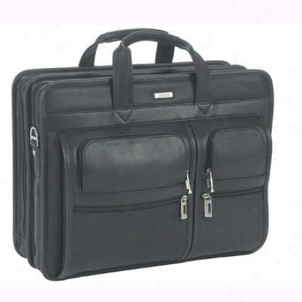 "Solo 15"" Leather Laptop Portfolio - Black N737-4"