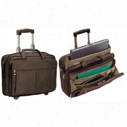 "Solo Checkfast Rolling 15.6"" Lqptop Case - Expresso D529-3"