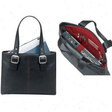 Solo Laptop Tote-black/red K709-4/17