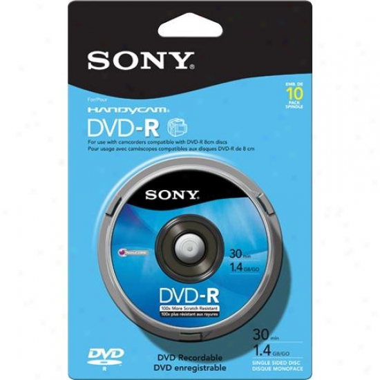 Sony 10dmr30rs1p 8cm Dvd-r 10-pack Spindle
