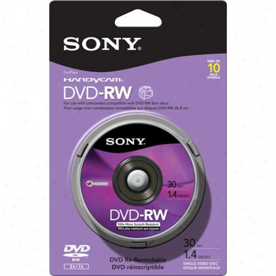 Sony 10dmw30rs2p 8cm Dvd-rw, 10-pack (skin Pack)