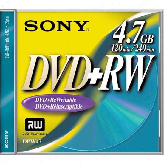 Sony 10dpw47l1/t 10 Pack Of 4.7gb Dvd+rw Discs