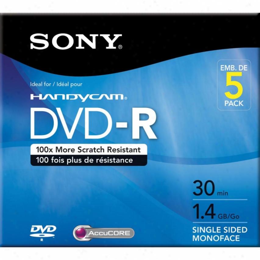 Sony 5-pack Dvd-r Discs 5dmr30r1h