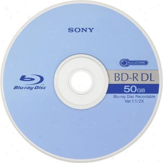 Sony Bnr-50ahe Blu-ray 50gb Bd-r Dual Layer Recordable Disc