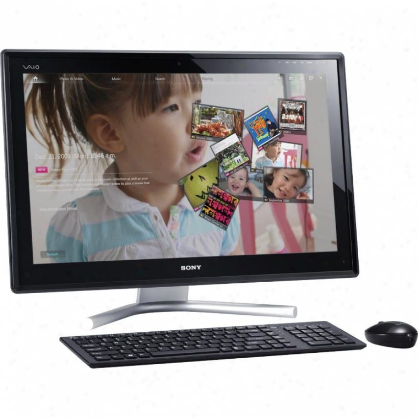"Sony Open Box Vaio® Vpcl224fx/b 24"" Touchscreen All-in-one Desktop Pc"