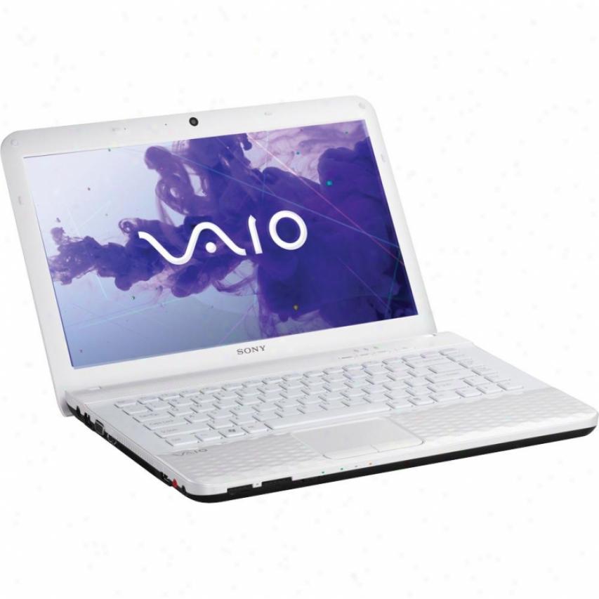 "Sony Vaio® Vpceg34fxw 14"" Notebook Pc - Glacier White"