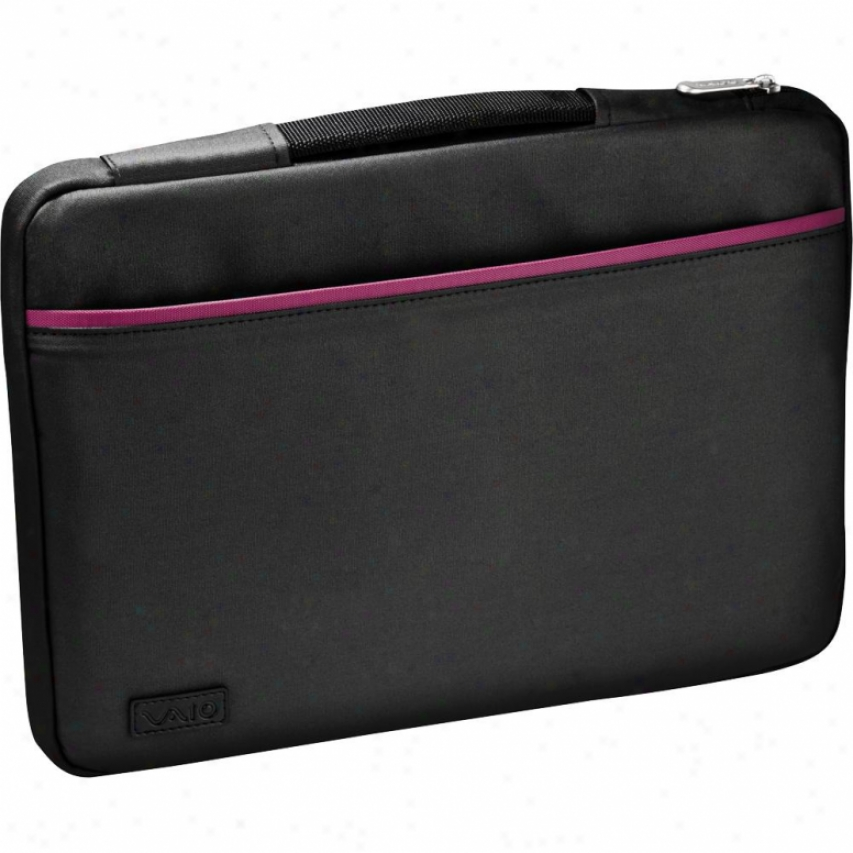 "Sony Vgp-ams1c13/p Vaio® S Series 13"" Notebook Carrying Case - Black W/ Pink"