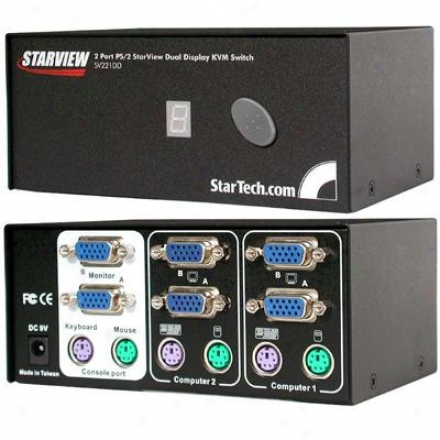 Startech 2 Port Starview Kvm Switch