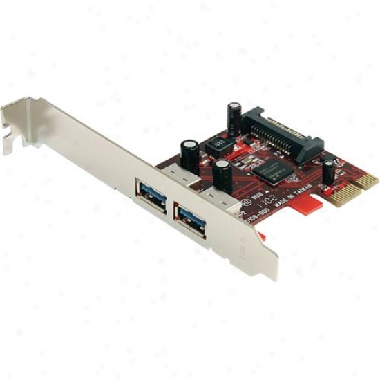Startech 2-port Superspeed Usb 3.0 Pci Express Card W/ Sata Power