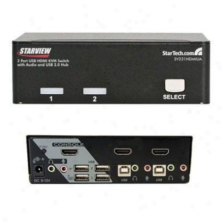 Startech 2-port Usb Hdmi Kvm Switch