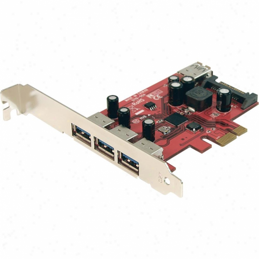 Startech 4 Port Superspeed Usb 3.0 Pci Express Card With Sata Power