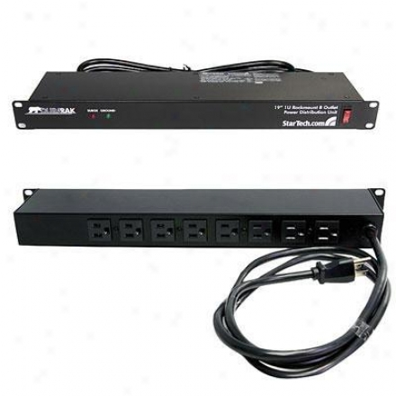 Startech 8 Outlet 15a Rackmount Power