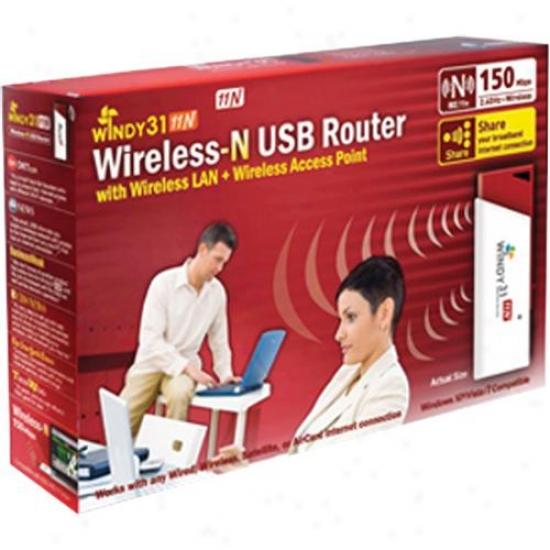Synet Windy-31n Wireless-n Lan Adapter Wireless Router Mwp150ms