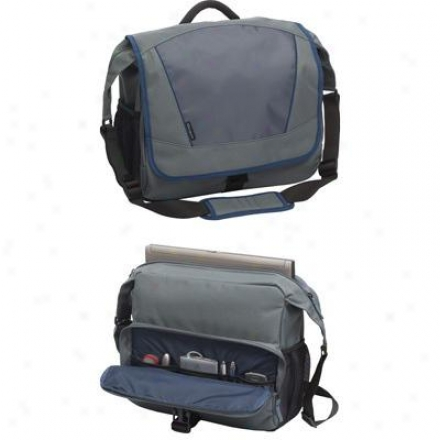 "Targus 15.6"" Laptop Incognito Messenger - Gray/blue Tsm07003us"