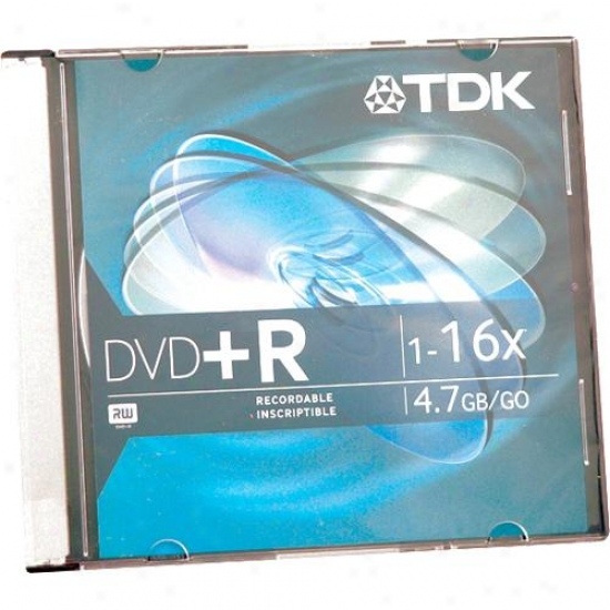 Tdk 16x Dvd+r47 Disc In Jewel Case - Dvd+r47f