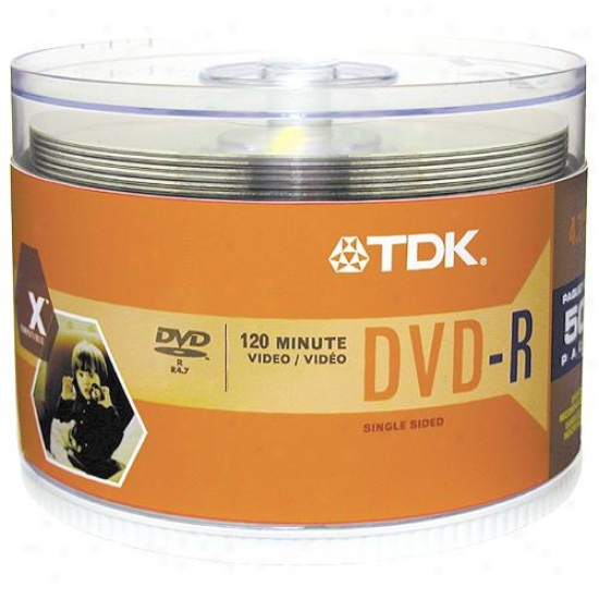Tdk 50-pack Of 16x Dvd-r Disc