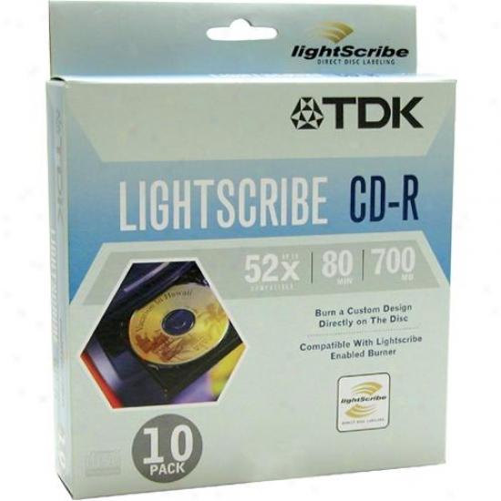 Tdk Cdr80lsw10 Lightscribe Cdr80