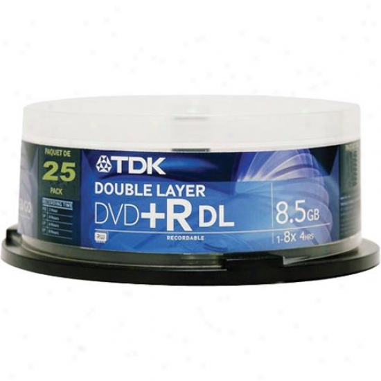 Tdk Dvd+5 8.5gb Dual Layer - 25-pack