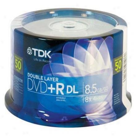 Tdk Dvd+r Double Layer 8.5gb 50pk