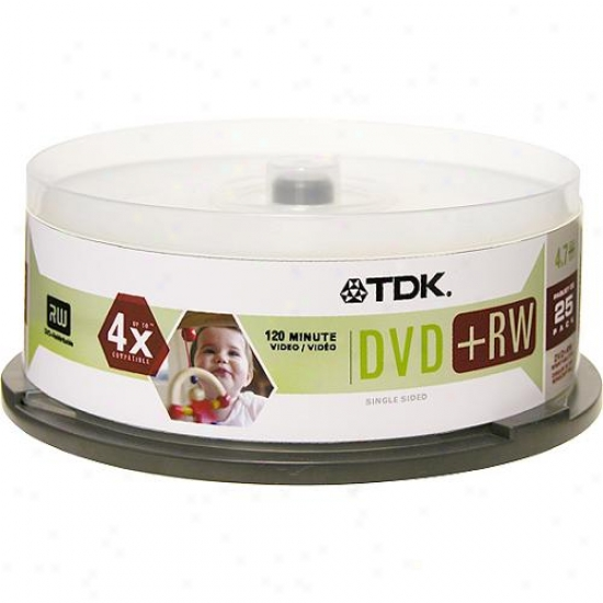 Tdk Dvd+rwcb254 Recordable Rewriteable Dvd