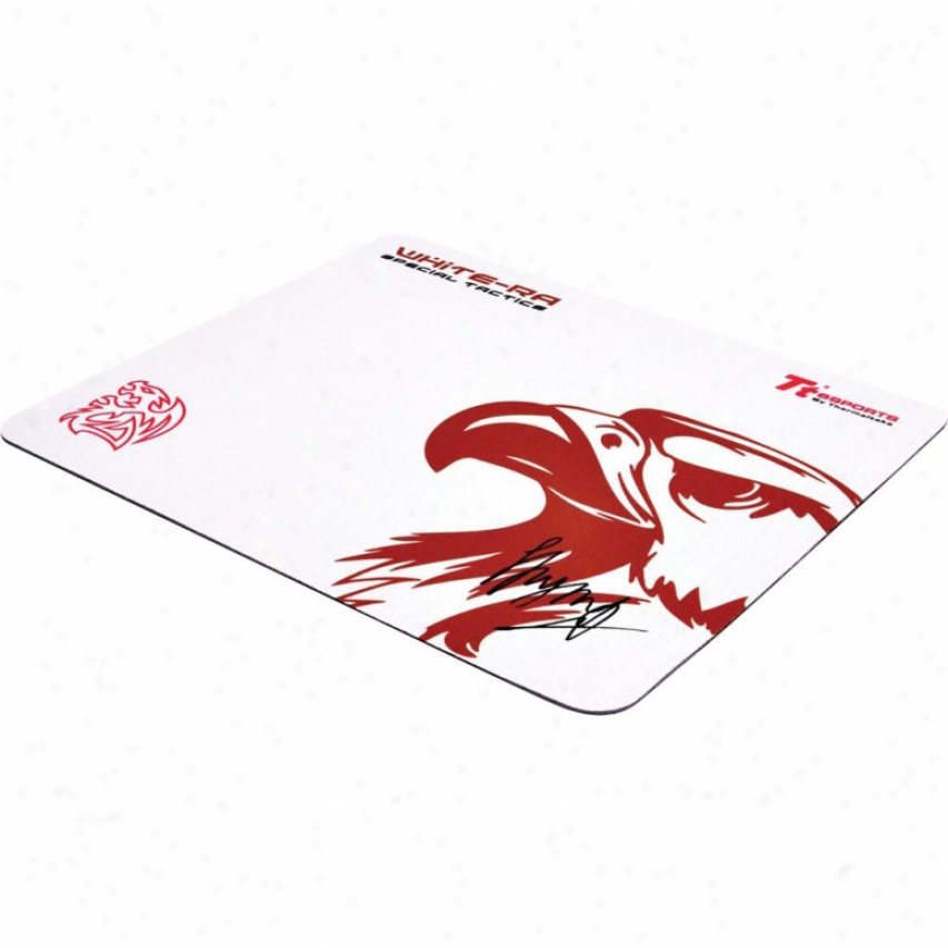 Thermaltae Tt Esports White-ra Special Tactics Mouse Pad - White