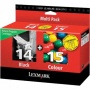Lexmark 18c2239 14/15 Black / Color Combo Cartridge Pack