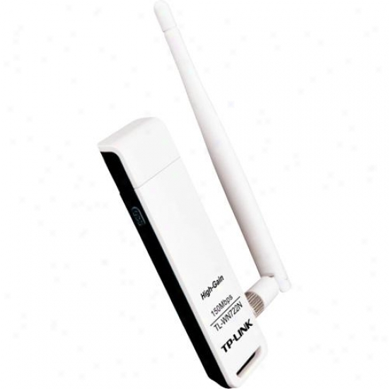 Tp-link 15Ombps High Gain Wireless N Usb Adapter - Tl-wn722n