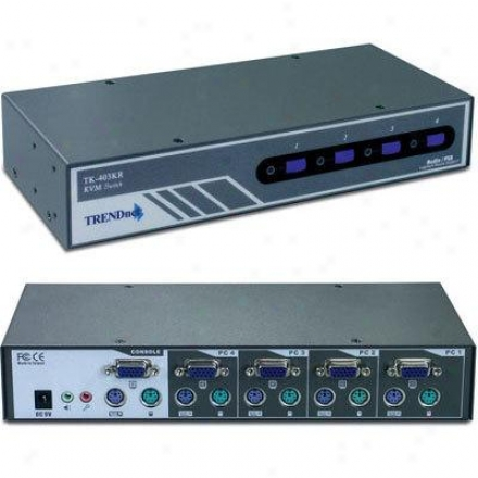 Trendnet 4-port Kvm Audio Rack Mount Sw