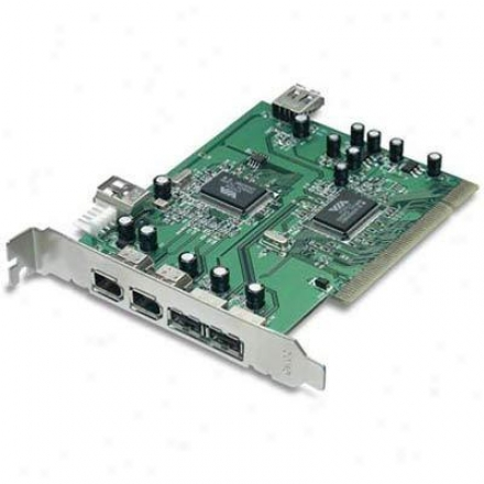 Trendnet 6-port Usb 2.0-firewire Combo Pci Adapter Tfu-h33