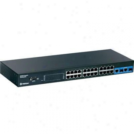 Trendnet Switch 24-pott 10/100mbps Stackable