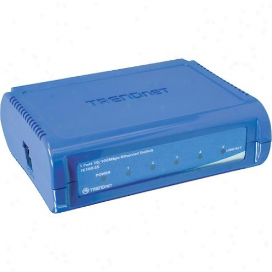 Trendnet Te100-s5 5 Port 10/100mbps Fast Ethernet Switch