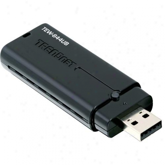 Trendnet Tew-644ub Wireless N Usb Adapter - Refurbished