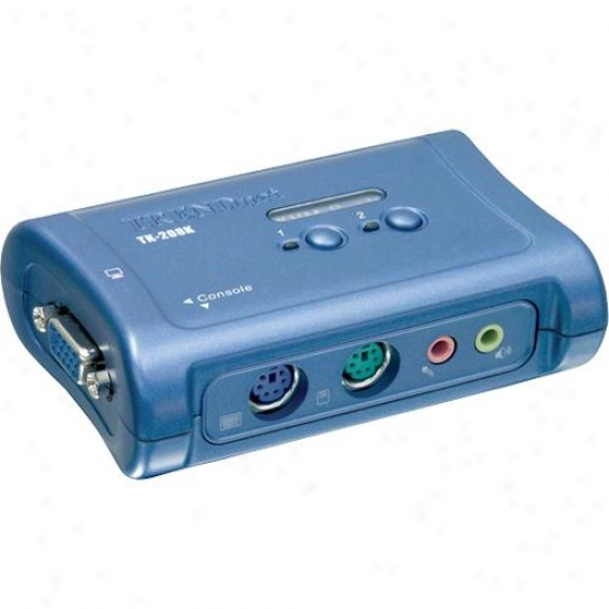 Trendnet Tk-208k 2-port Ps/2 Audio Kvm Switch