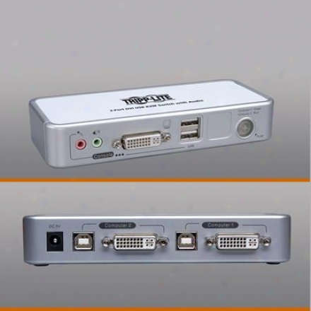 Tripp Lite 2-port Comp Dvi Usb Kvm Swtch